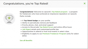 Top Rated Freelancer on Upwork